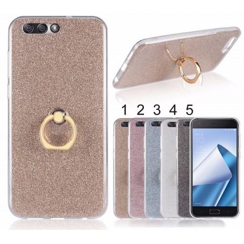 Cover custodia Case silicone glitter con gancio per Asus Zenfone 4 ZE554KL