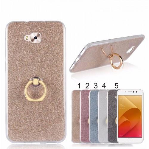 Cover custodia Case silicone luccicante + gancio per Asus Zenfone 4 selfie & PRO