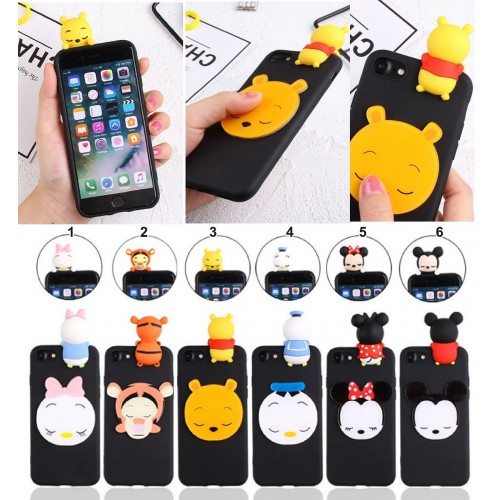 Cover custodia Case silicone minnie mickey duck tiger winnie per OnePlus 6 5T 5