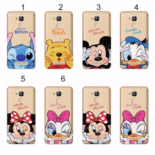 Cover custodia Case silicone minnie mickey stitch per Asus Zenfone 3 Max ZC520TL