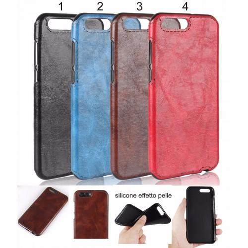 Cover custodia Case silicone preformato effetto pelle per Asus Zenfone 4 ZE554KL