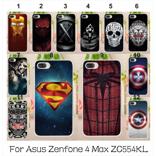 Cover custodia Case silicone spider iron man 3D per Asus Zenfone 4 Max ZC554KL