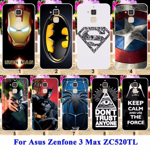Cover custodia Case spider iron superman batman per Asus Zenfone 3 Max ZC520TL