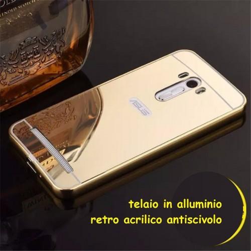 Cover custodia Case telaio alluminio mirror per modelli Asus Zenfone GO 3 Max C