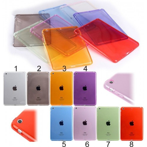 Cover custodia Silicone preformato per Apple IPad 1 2 3 4 5 6 mini Pro + vetro