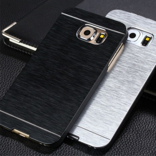 Cover custodia case alluminio spazzolato fashion per samsung galaxy Note 2 3 4 5