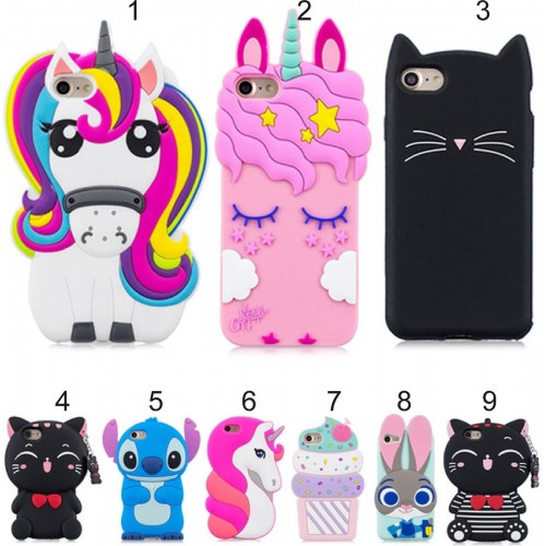 Cover custodia case silicon 3D unicorno kitty stitch per Huawei P20 lite Nova 3E