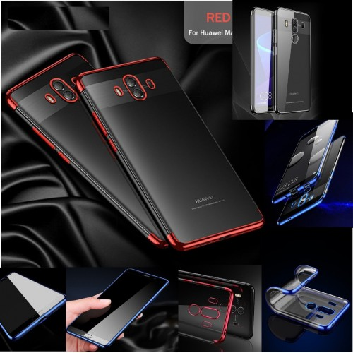 Cover custodia case silicone cromato per Huawei P8 P9 P10 P20 lite Pro Plus 2017