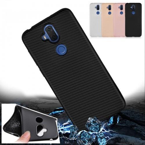 Cover custodia case silicone e fibra di carbonio per Asus Zenfone 5 lite ZC600KL
