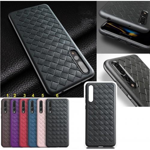 Cover custodia case silicone effetto pelle per huawei P20 lite Pro Plus Nova 3E