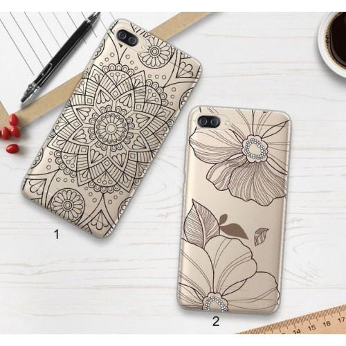 Cover custodia case silicone fiori per Asus Zenfone 4 5 5Z lite Max  ZC ZS ZE