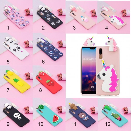 Cover custodia case silicone soft unicorno minnie teddy per Huawei P20 lite Pro