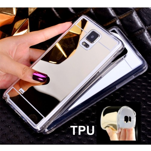 Cover custodia case silicone tpu retro specchio 3d per samsung galaxy Note 3 4 5