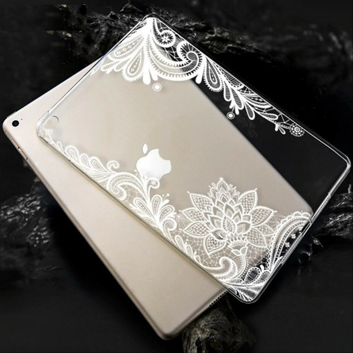 Cover custodia in silicone antiurto fiori per Apple IPad 2 3 4 5 6 pro mini air