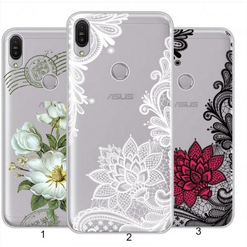 Cover custodia in silicone antiurto fiori per Asus Zenfone 5 5Z ZS620KL ZE620KL