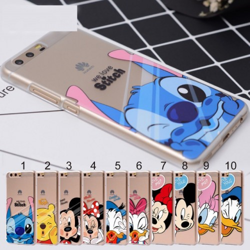 Cover custodia mickey minnie stitch per Huawei P8 P9 P10 P20 lite Pro Plus,2017