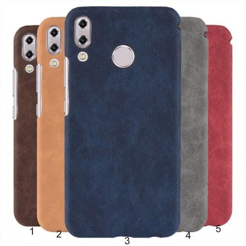 Cover custodia rigida preformata in cuoio per Asus Zenfone 5 5Z ZS620KL ZE620KL