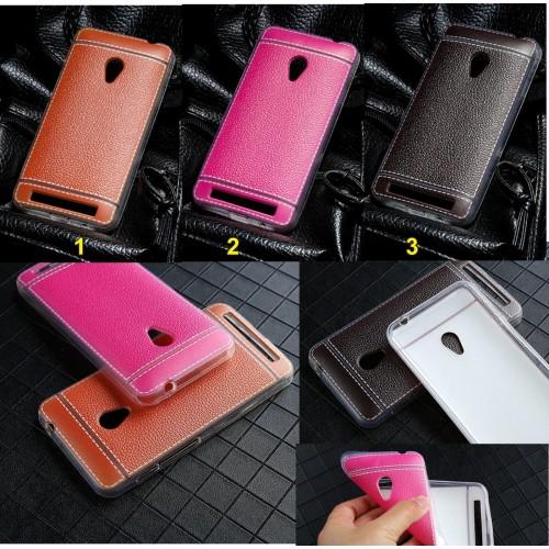 Cover custodia silicon effetto pelle per Asus Zenfone Max M1 Pro 5 5Z lite live