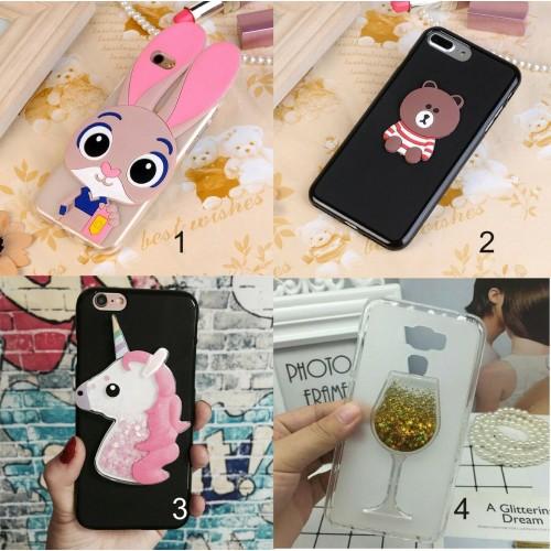 Cover custodia silicone 3D teddy unicorno glitter Asus Zenfone selfie Zd551KL