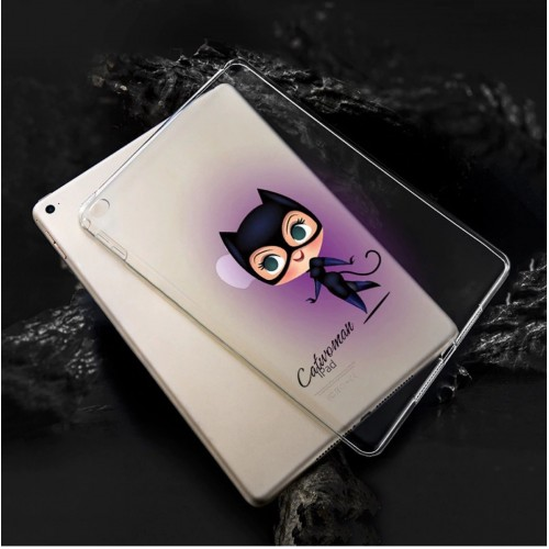 Cover custodia silicone antiurto catwoman per Apple IPad 2 3 4 5 6 pro mini air
