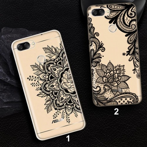 Cover custodia silicone antiurto fiori per Asus Zenfone Max M1 Plus Pro 5Z lite