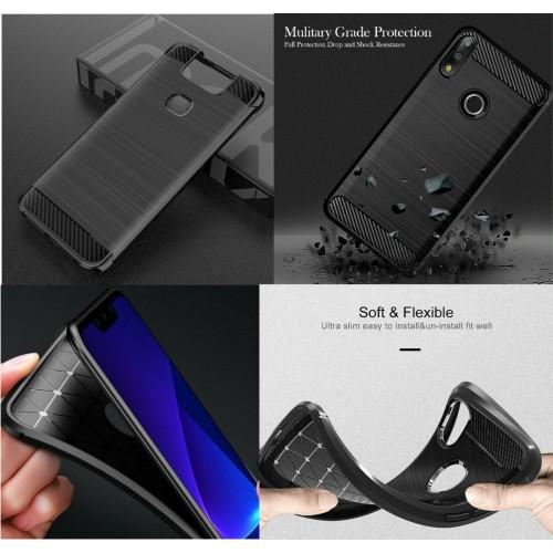 Cover custodia silicone fibra antiurto per Asus Zenfone 6 ZS630KL Max Pro M1 M2