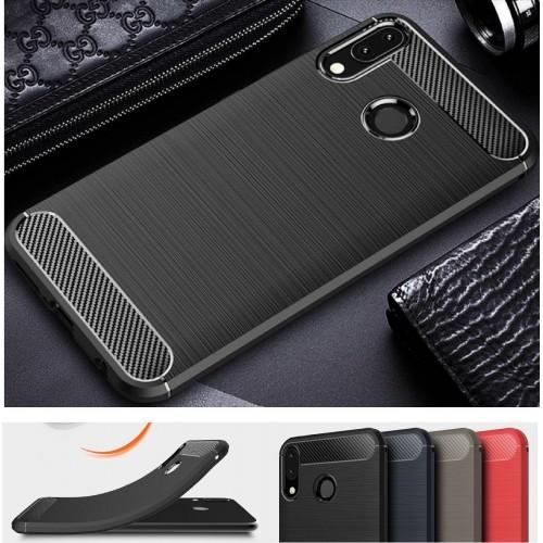Cover custodia silicone fibra di carbonio per Asus Zenfone 5 5Z ZS620KL ZE620KL