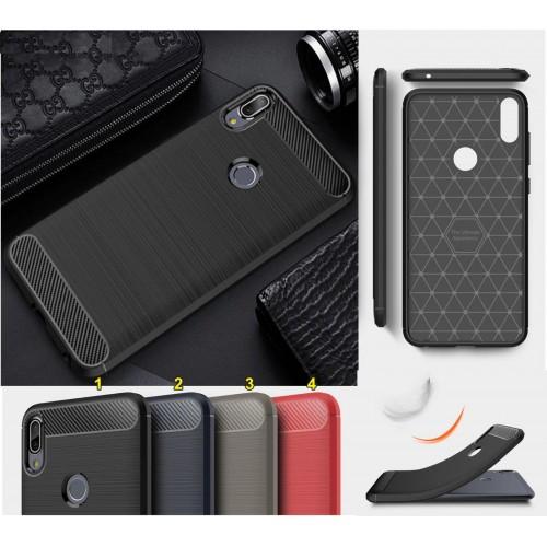 Cover custodia silicone & fibra per Asus Zenfone Max M1 Pro Plus 5 5Z lite live
