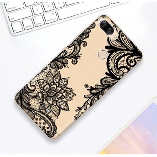Cover custodia silicone fiore fashion per Asus Zenfone 5 5Z lite Max Plus Pro M1