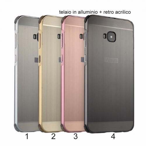 Cover custodia telaio alluminio + acrilico per Asus Zenfone 4 selfie PRO ZD552KL