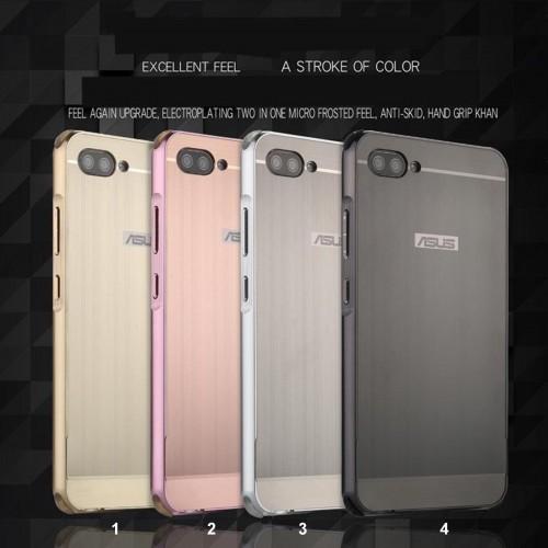 Cover custodia telaio alluminio retro acrilico per Asus Zenfone 4 Max Selfie pro