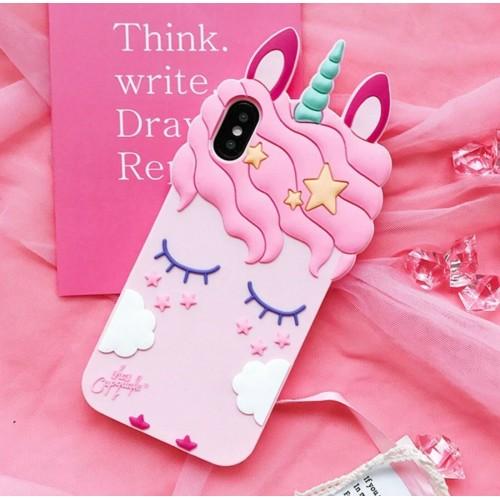 Cover in silicone antiurto unicorno per Xiaomi redmi Note 3 4 4X 5 5A Pro 6 7