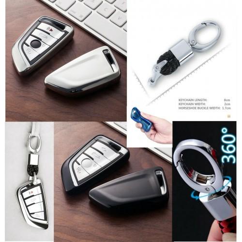 Cover telecomando con portachiavi per BMW X5 F15 X6 F16 G30 7 serie G11 X1 F48