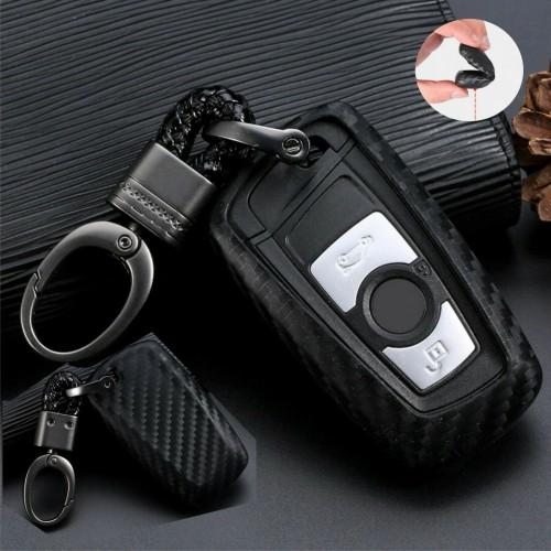 Cover telecomando fibra carbonio per Bmw nuovo 1 3 4 5 6 7 F10 F20 F30 Smart