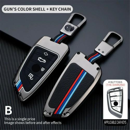 Cover telecomando & portachiavi per  BMW X1 X3 X4 X5 X6 F15 F16 F48 3 pulsanti
