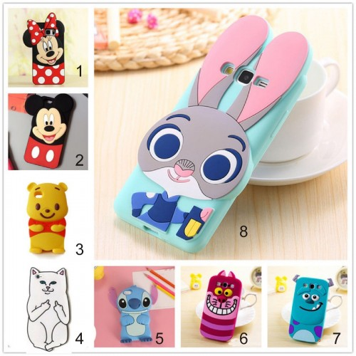 Custodia Cover 3D minnie mickey stitch cat per Apple IPhone 5 SE 6 7 8 Plus X