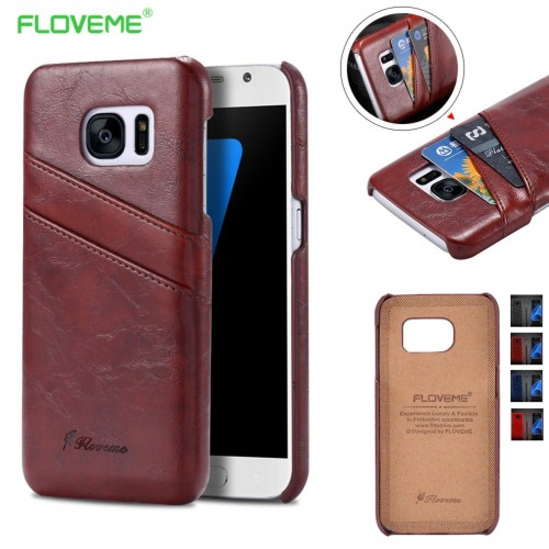 Custodia Cover Case in pelle Fashion floveme per Samsung Galaxy S7 & Edge + film