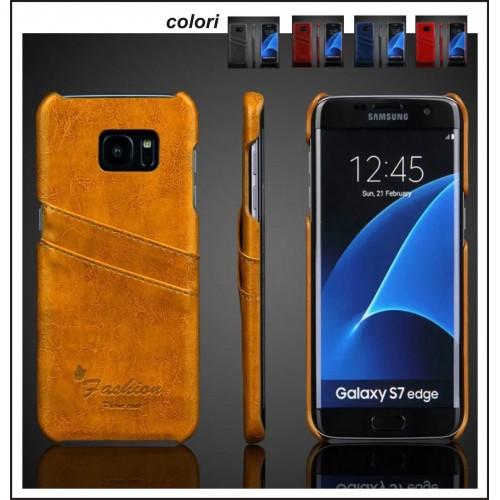 Custodia Cover Case in pelle Fashion floveme per Samsung Galaxy S7 & Edge + film