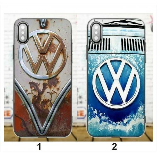 Custodia Cover Plastica volkswagen per Samsung Galaxy S5 S6 S7 S7 Edge S8 Plus