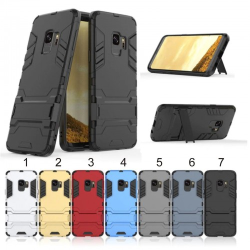 Custodia Cover antiurto iron man hybrid supporto per Samsung Galaxy Note 4 5 8 9