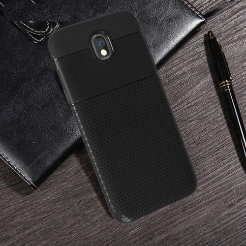 Custodia Cover antiurto silicone effetto pelle per Samsung Galaxy J4 J6 J8 2018