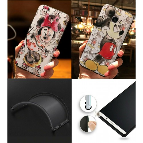 Custodia Cover antiurto topolino minnie mickey per Samsung Galaxy S10 S10E Plus