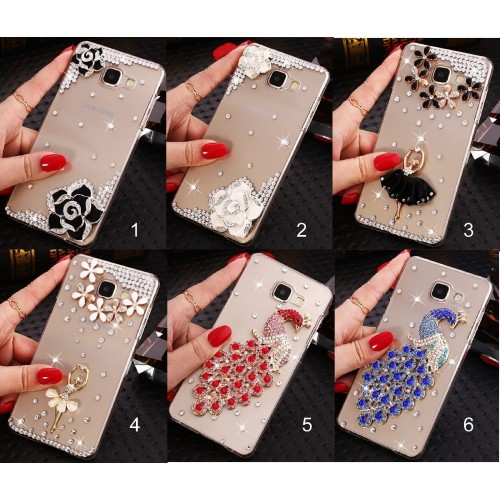 Custodia Cover bling strass diamanti per Samsung Galaxy S6 S7 edge S8 S9 Plus