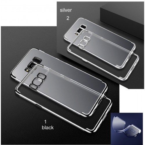 Custodia Cover bordo cromato per Samsung S6 S7 S8 S9 note A3 A5 A7 A8 J3 J5 J7