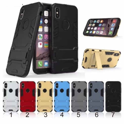 Custodia Cover case antiscivolo hybrid con cavalletto per Apple IPhone 8 Plus X