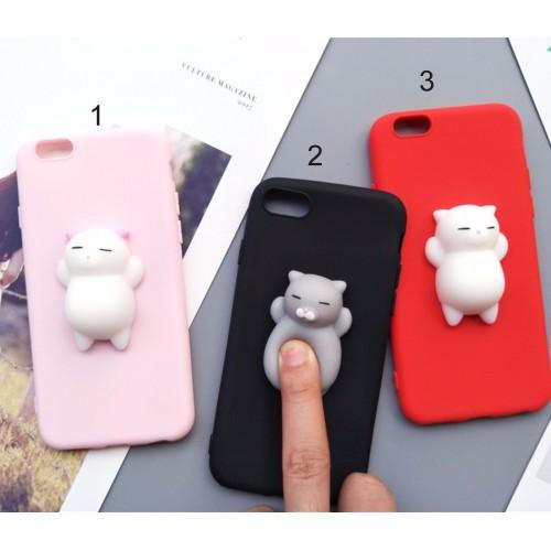 Custodia Cover case cat kitty squishy silicone 3D per Samsung A3 A5 A7 2016 2017