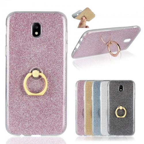 Custodia Cover case con anello per Samsung Galaxy J2 j3 J4 J5 J6 J7 J8 2017 2018