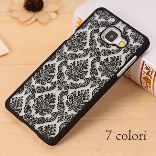 Custodia Cover case fiori damasco per Samsung Galaxy A3 A5 A7 A8 2015 2016 2017