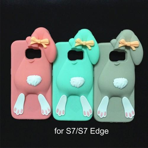 Custodia Cover case fumetti silicone coniglio 3d per Samsung Galaxy S7 & Edge