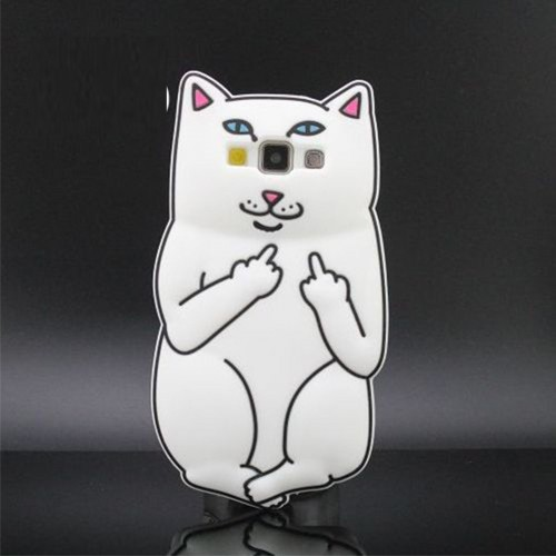 Custodia Cover case fumetti silicone pussy cat 3d per Samsung Galaxy S7 & Edge